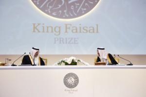 킹 파이잘 국제상 이사회 회장 칼리드 알 파이잘 왕자와 압둘아지즈 알세바일 사무총장