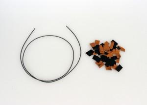 포던테크 삼디플레이가 3D프린터로 폐 원단 재활용에 성공했다. 필리봇을 이용하여 필라멘트로 업사이클한 모습
