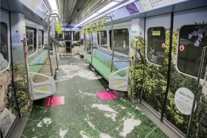 서울시·서울문화재단이 입춘을 맞아 달리는 북한산 문화철도 차량을 운행한다. 사진은 우이신설선 달리는 북한산 열차 내부
