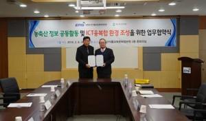 농림수산식품교육문화정보원이 축산환경관리원과 세종시 농정원에서 6일 업무협약을 체결했다고 밝혔다