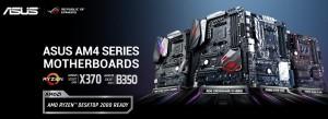 에이수스가 13일 AMD의 새로운 프로세서인 코드명 레이븐릿지 RYZEN 5 2400G와 RYZEN 3 2200G를 공식 지원한다