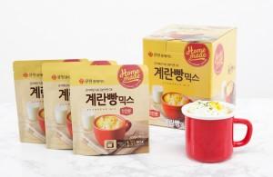 삼양사가 큐원 홈메이드 계란빵믹스를 출시한다