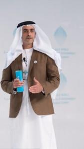 셰이크 사이프 빈 자예드 알 나얀이 월드 거번먼트 서밋에서 기회를 포착하고 난관을 극복하는 것이 성공의 기반이다라는 주제로 연설을 했다