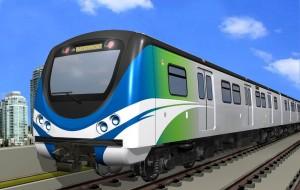 현대로템이 캐나다 밴쿠버 국제공항 연결 철도 노선에 투입될 전동차를 수주했다. 사진은 현대로템이 제작하게 될 캐나다 밴쿠버 전동차 실외 조감도
