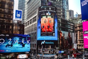Art by Santiago Ribeiro on Display at Times Square in New York