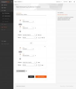 앱리프트의 데이터리프트 360 리타겟팅 오디언스 세그멘테이션 기능