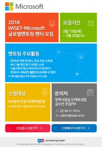 2018 WISET-한국MS 글로벌 멘토링 멘티 모집 안내