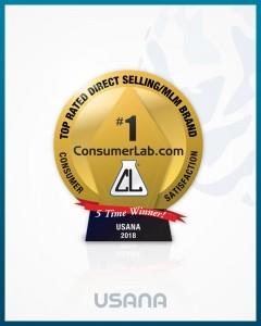 컨슈머랩이 선정하는 직접판매 건강기능식품 브랜드 1위 마크