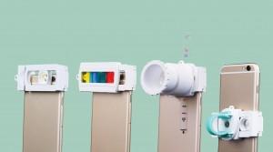 동아이엔지 스마트폰 플래시라이트 키트인 트랜스빔의 기능별 모듈 조합