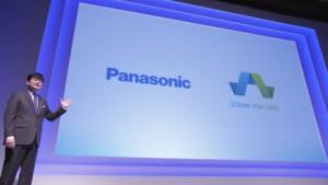 혼마 테츠로 파나소닉 코퍼레이션 수석본부장이 파나소닉과 합작하여 벤처회사 비엣지를 설립한 스크럼 벤처스를 소개하고 있다