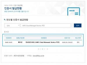 국내 최초로 클라우드 매니지드 서비스 기반 ISMS 인증을 획득한 메가존