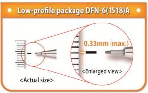 로우 프로파일 패키지 DFN-6(1518)A