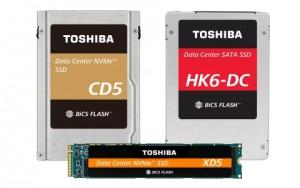 도시바 메모리 코퍼레이션이 64-레이어 3D플래시 메모리 데이터 센터 솔리드 스테이트 드라이브 라인업을 발표했다