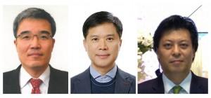 왼쪽부터 정교중 영업총괄사장, 김종열 부사장, 이중열 이사