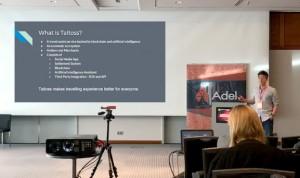 타이토스 CTO인 제이크 킴이 독일 베를린에서 열린 블록체인&비트코인 컨퍼런스에 참석해 아시아인 최초로 주제 발표를 하고 있다
