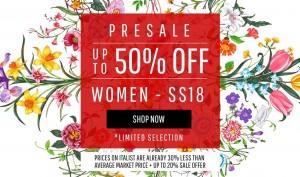 이태리 명품 직구 쇼핑몰 이탈리스트가 지방시, 몽클레어, 발렌티노, 꼼데가르송, 돌체엔가바나, 버버리 등의 SS18 신상품을 시중가격보다 최대 50% 할인된 가격으로 구매할 수 있는 기회를 제공한다