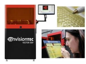 북미에서 3D 인쇄를위한 최고의 행사 인 RAPID + TCT에서 EnvisionTEC은 3SP 3D 프린터 제품군의 잠재력을 보여줄 것이다. 새로운 하드웨어 업그레이드를 통해 대형 프레임 모델은 인간 머리카락의 단면적의 약 절반에 해당하는 정밀도 인 25 마이크론의 XY 해상도를 제공 할 수 있다