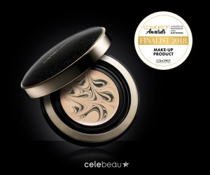 BLACK SERUM PACT by CELEBEAU selected as a finalist in the make-up product category at Cosmoprof Awards in Bologna, Italy