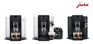 왼쪽부터 스위스 유라의 E6, E8 Chrome, E7 커피머신