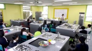 서울시립 성북청소년수련관 요리 실습실 전경