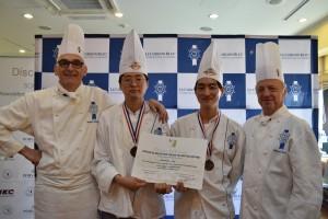 2018 아시아 에스코피에 주니어 요리대회 한국대표 선발전에서 2위를 차지한 이순환 군과 김주한 군