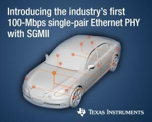 TI 자동차용 이더넷 물리층 트랜시버 제품