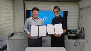 오투오컨티뉴엄(O2OPay) CEO Steve Kim(왼쪽)과 JD헤어 이재동 원장