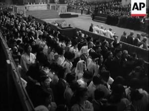 병인순교자 시복식 영상, 1968(자료협조처: AP통신)
