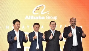 Left to Right: Ambassador Bai Tian, China Ambassador to Malaysia, Jack Ma, Executive Chairman and Founder of Alibaba Group, YB Lim Guan Eng, Finance Minister of Malaysia, Gobind Singh Deo, Minister of Communication & Multimedia