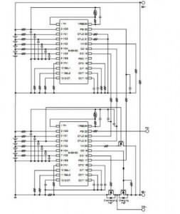 S-8245C 시리즈를 사용하는 10 셀 보호 회로 예시
