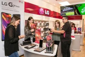 LG G7 ThinQ 브라질 상파울루 매장