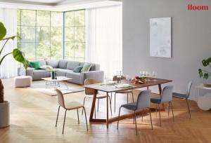 가족의 라이프스타일에 맞는 멀티 공간 연출이 가능한 일룸의 빅 테이블 대표 제품 모리니