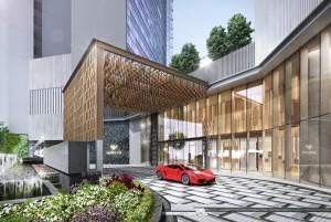 홍콩 호텔 VIC 온 더 하버 7월 중순 개관 로비 입구