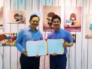 조현구 클래스팅 대표(오른쪽)와 수 웨이천(Su Wei-Chuan) 난이 퍼블리싱 컴퍼니 대표