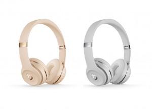 Beats Solo3 Wireless 온-이어 헤드폰 새틴 골드(좌), 새틴 실버(우)