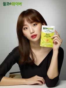 둘코화이버의 첫 브랜드 모델로 발탁된 배우 진기주