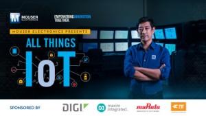 글로벌 유통 업체 마우저 일렉트로닉스와 엔지니어 대변인 그랜트 이마하라가 마우저의 Empowering Innovation Together 프로그램의 최신 시리즈 All Things IoT 출시를 위해 힘을 합쳤다