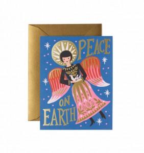 Anna Bond의 일러스트로 만들어진 라이플 페이퍼의 크리스마스 컬렉션 카드