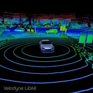 세계 최고의 라이더 센서 Velodyne VLS-128™의 포인트 클라우드
