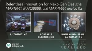 맥심의 1GHz 이하 무선 트랜스미터 MAX41464, 예비 전원 레귤레이터 MAX38888, 36V 오링 FET 컨트롤러 MAX16141