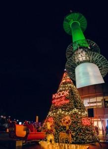 N서울타워에 설치된 초대형 클룩 크리스마스 트리