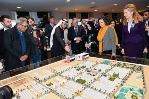 벨기에 브뤼셀의 유럽의회에서 개최된 아랍에미리트 인도주의 전시회