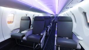 CRJ550 기종은 미국 항공사가 운항하는 50석 규모 항공기 가운데 레그룸 공간이 가장 넓다