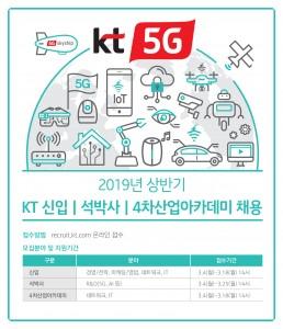2019년 상반기 정기공채 알림 포스터