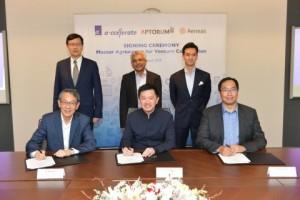 에이스타·앱토럼 그룹, 아이니어스 캐피털이 의료혁신 위한 9000만달러 규모 공동 사업 협약에 서명했다