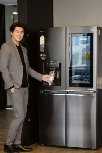 LG전자에서 출시한 디오스 얼음정수기냉장고