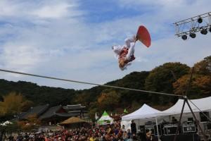 2018 전통연희페스티벌에서 선보인 남창동의 줄타기