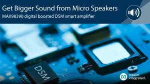 맥심이 출시한 DSM 스마트 증폭기 MAX98390