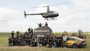 콘티넨탈 직원들이 2019 WEC 테크놀로지 익스피리언스 행사를 성공적으로 마치고 기념촬영을 하고 있다