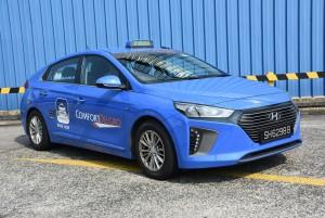 싱가포르에서 운행되는 현대자동차의 아이오닉 하이브리드 택시